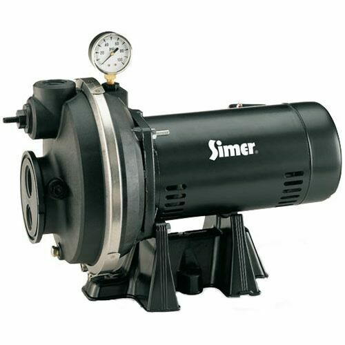 Simer 9 Gpm 1 2 Hp Thermoplastic Convertible Well Jet Pump