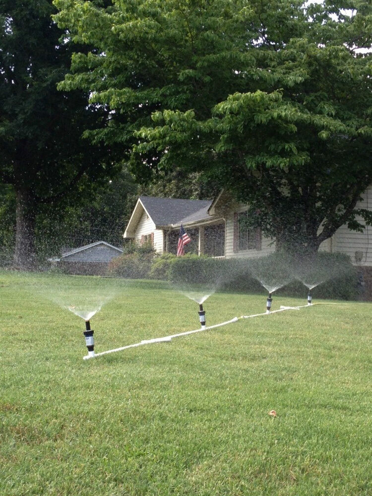 Temporary Irrigation System : Above ground portable flexible sprinkler system