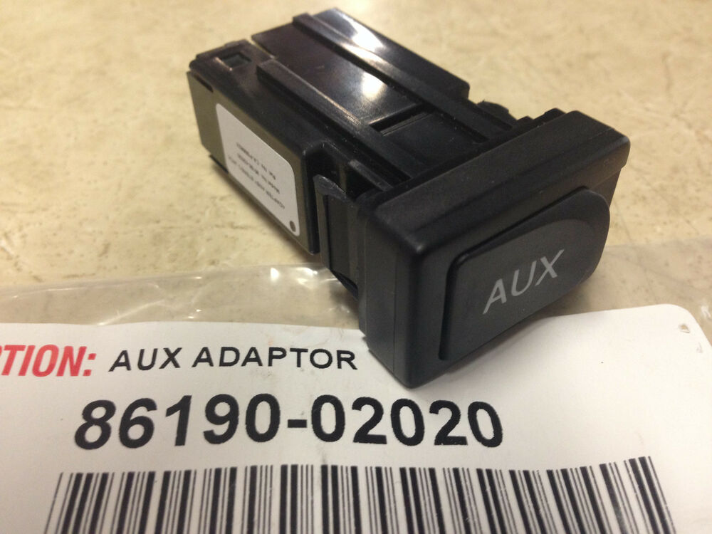 toyota venza 2009 2012 aux adapter factory replacement genuine 86190 02020 ebay. Black Bedroom Furniture Sets. Home Design Ideas