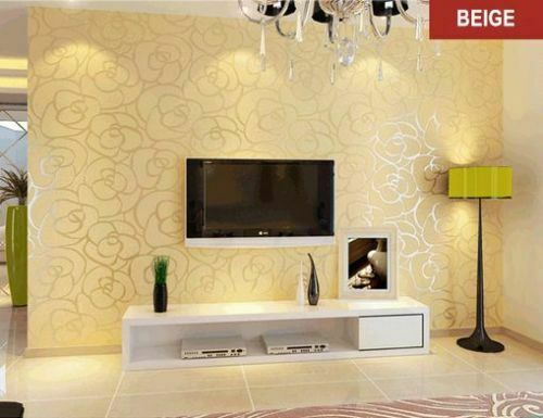 Home Design 3d Gold Ideas: SILVER GOLD WALL PAPER WALLPAPER ROLL DAMASK EMBOSSED