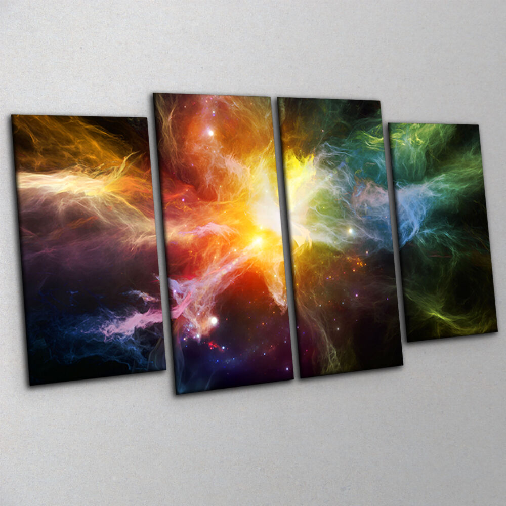 dramatic deep space nebula canvas print wall art large 4. Black Bedroom Furniture Sets. Home Design Ideas