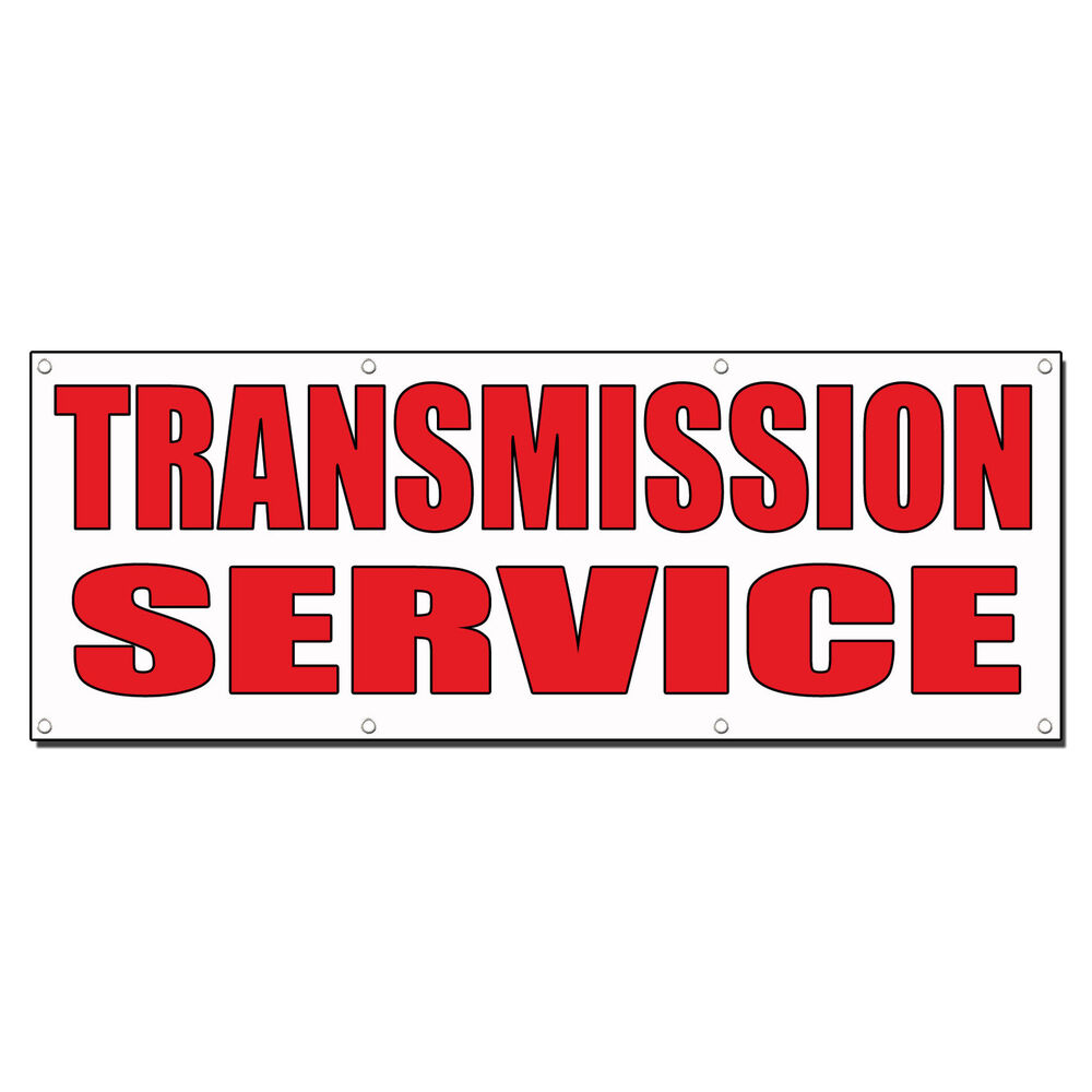 Utility Body Signs : Transmission service auto body shop car repair banner sign