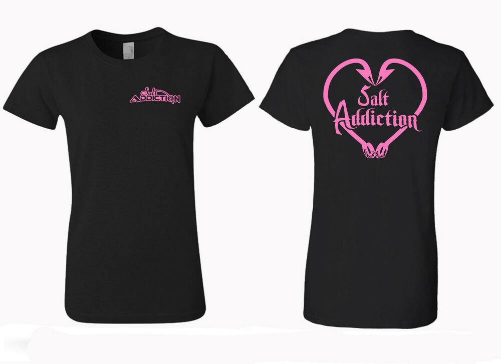 salt addiction apparel women 39 s saltwater fishing t shirt