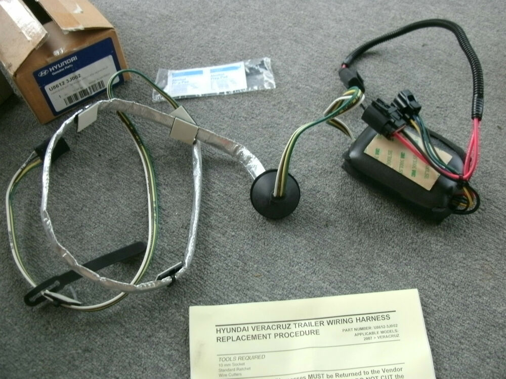 Towing trailer hitch wiring harness for  hyundai