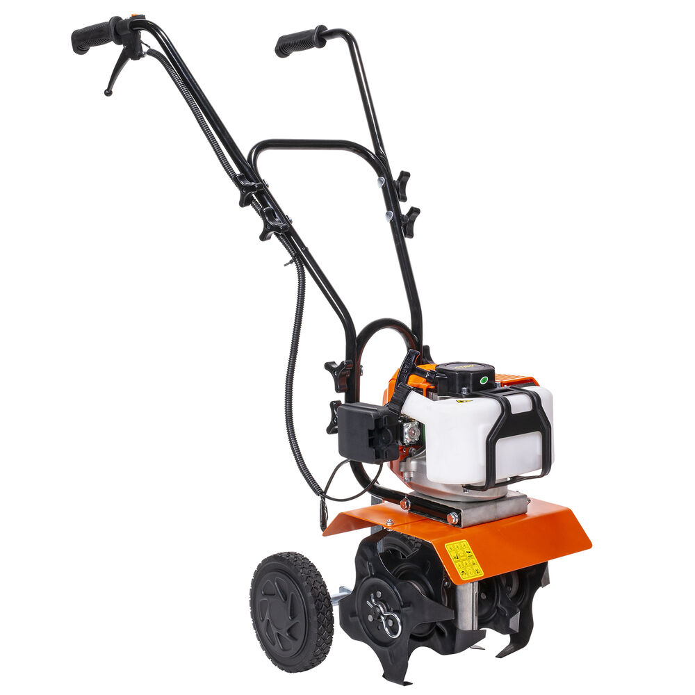 Cultivator Category 0 : Commercial cycle gas powered garden yard grass tiller