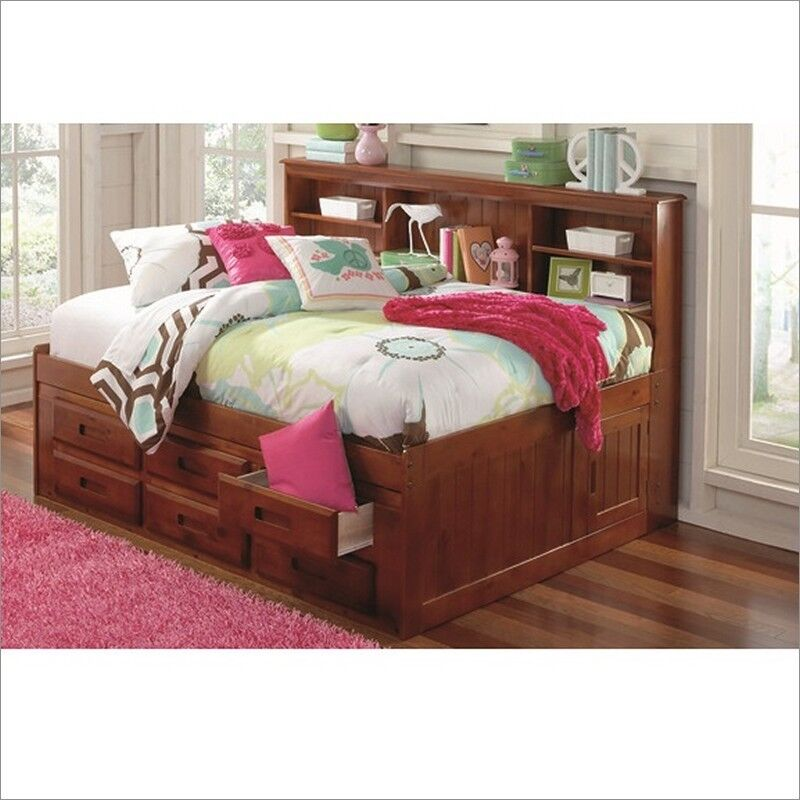 full bookcase daybed with 6 drawer dresser or trundle and drawers ebay. Black Bedroom Furniture Sets. Home Design Ideas