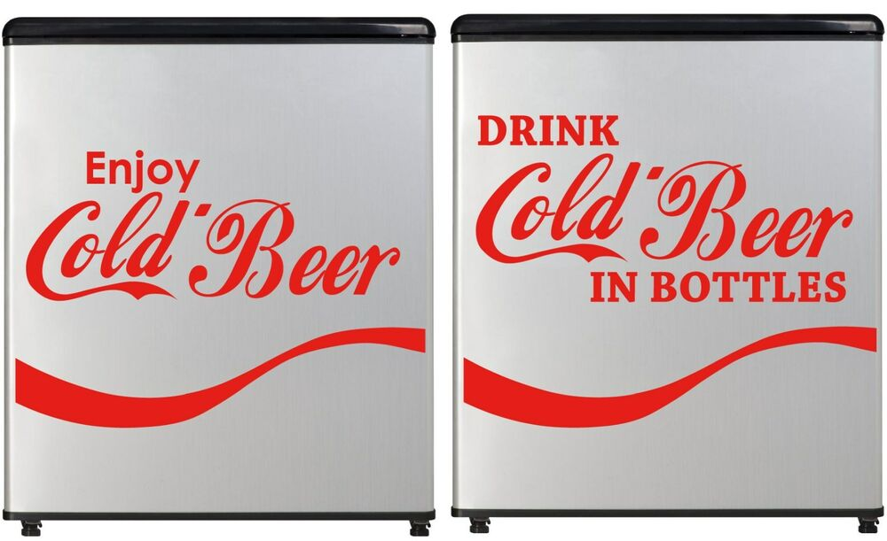 Cold Beer Decal Concession Refrigerator Bumper Sticker