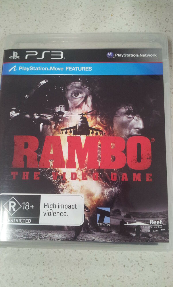 Movie Games For Ps3 : Rambo the video game ps ebay