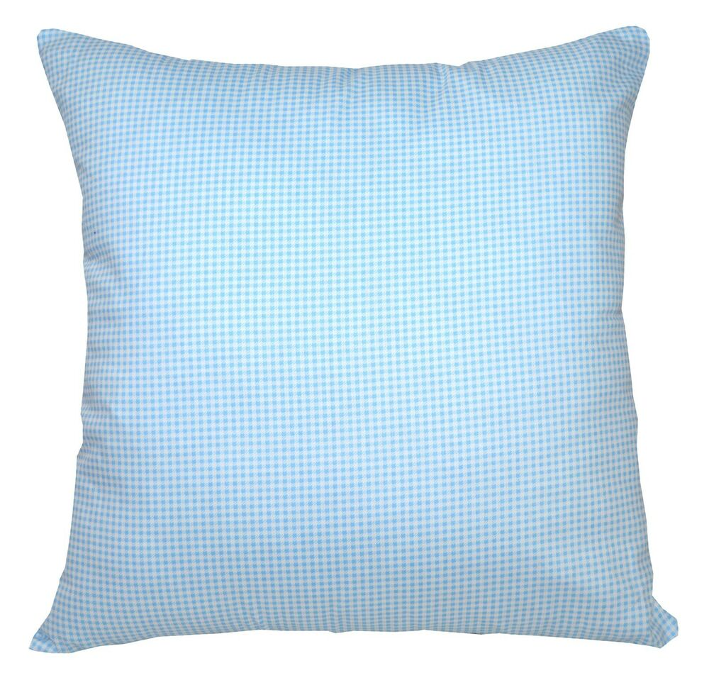 Ra013a Baby Blue Soft Cotton Fabric Cushion Cover Pillow