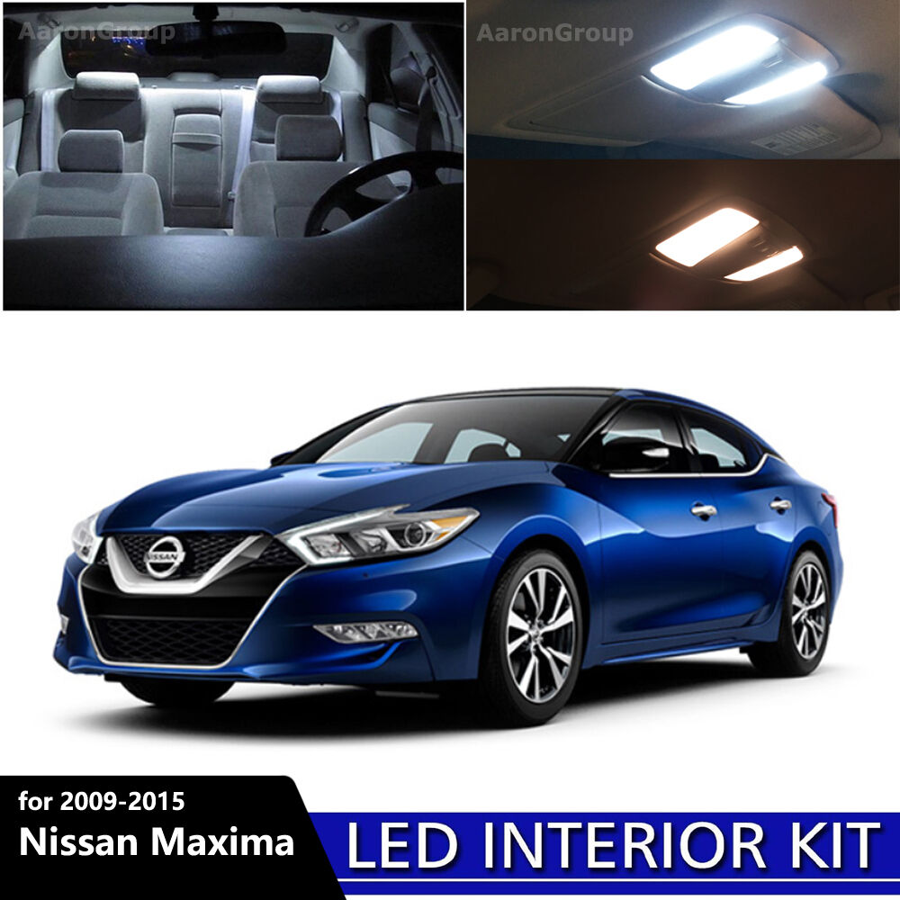 17pcs white interior led light package kit for 2009 2015 nissan maxima ebay 2015 nissan altima interior lights