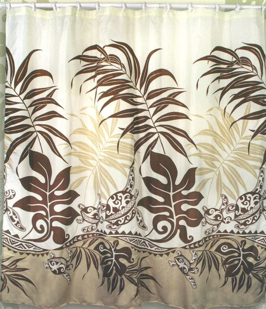 Turtle Hawaiian Fabric Shower Curtain Animal Print, Arts & Crafts ...