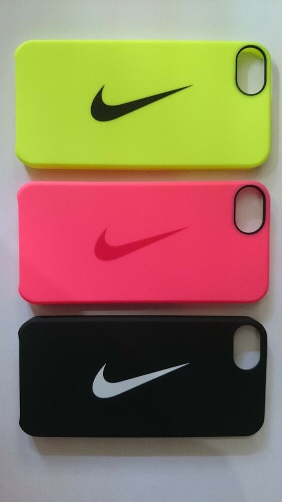 nike iphone 5s case nike swoosh plastic pink yellow compatible 15768