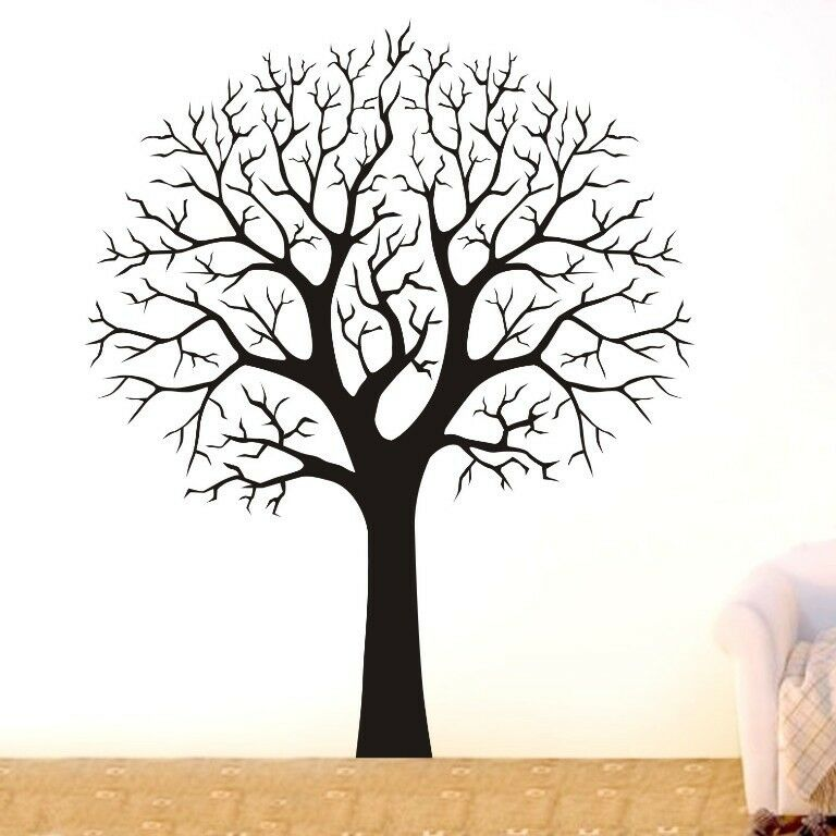Large tree branch wall decor removable vinyl decal home for Tree wall art