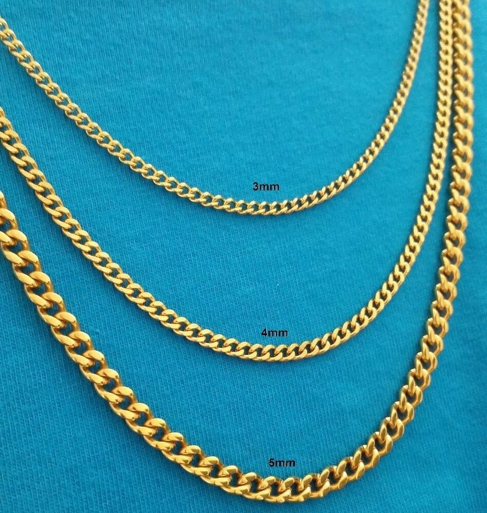 hop luxury s chains curb bling gold jewellry chain necklace mens filled hip jewelry itm