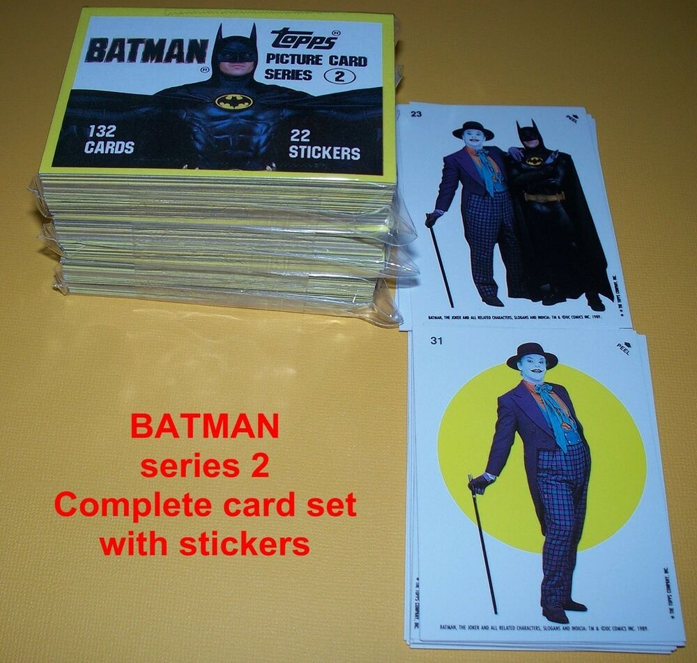 Batman series 2 complete set 132 cards 22 stickers ebay