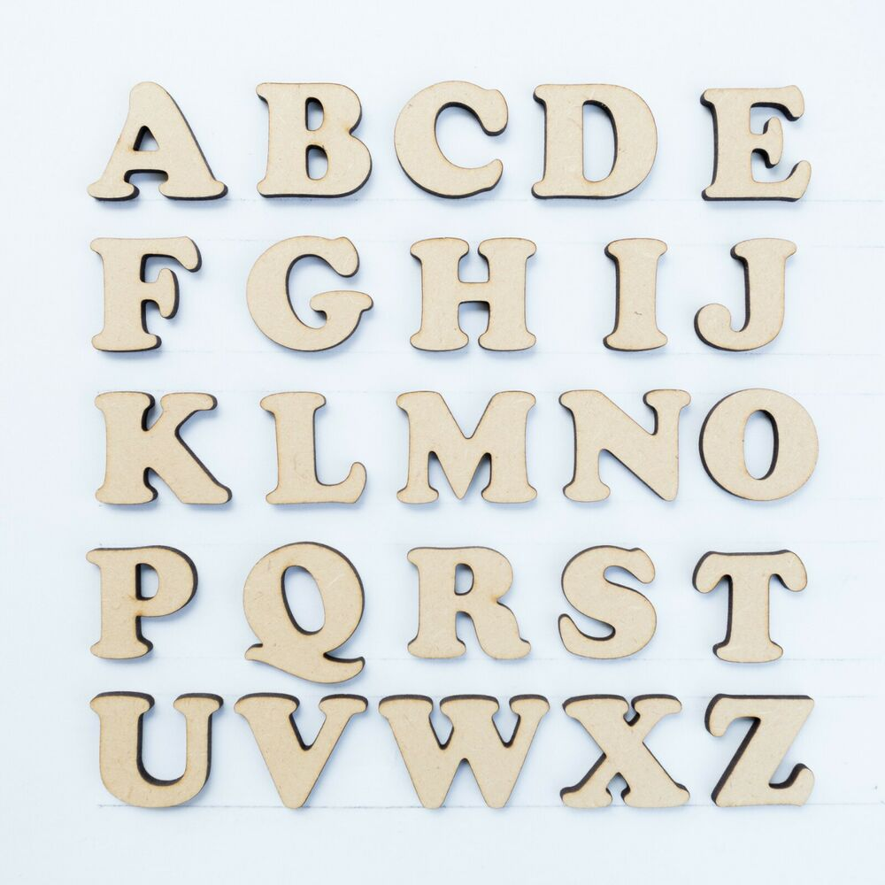 30mm mdf craft letters wooden alphabet letters numbers of wood shapes sets ebay