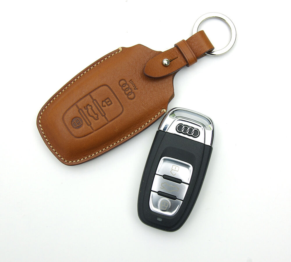 Smart key case fob chain cover fit for New Audi A6 A7 A8 Q5 Q7 S5 | eBay