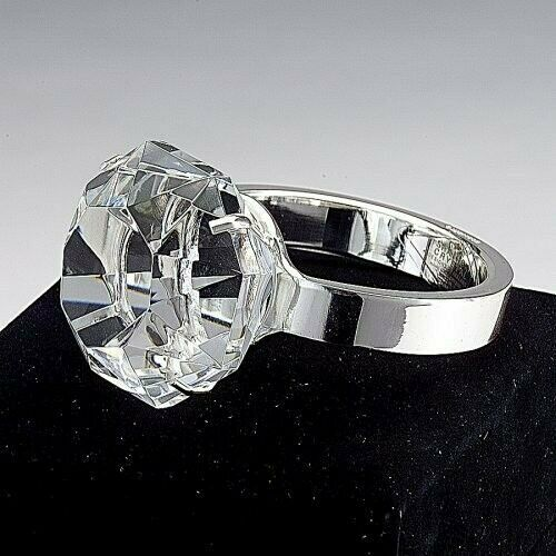 Giant Crystal Diamond Ring Paperweight With Gift Box A