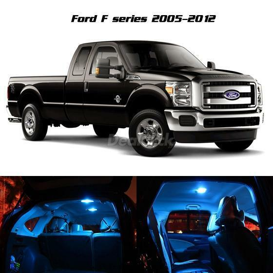 Ice Blue 11 Pcs Led Light Interior Package For 2005 2016 Ford F 250 F 350 F 450 Ebay