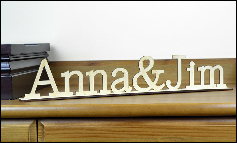 Personalized Wooden Sign Free Standing Home Decor