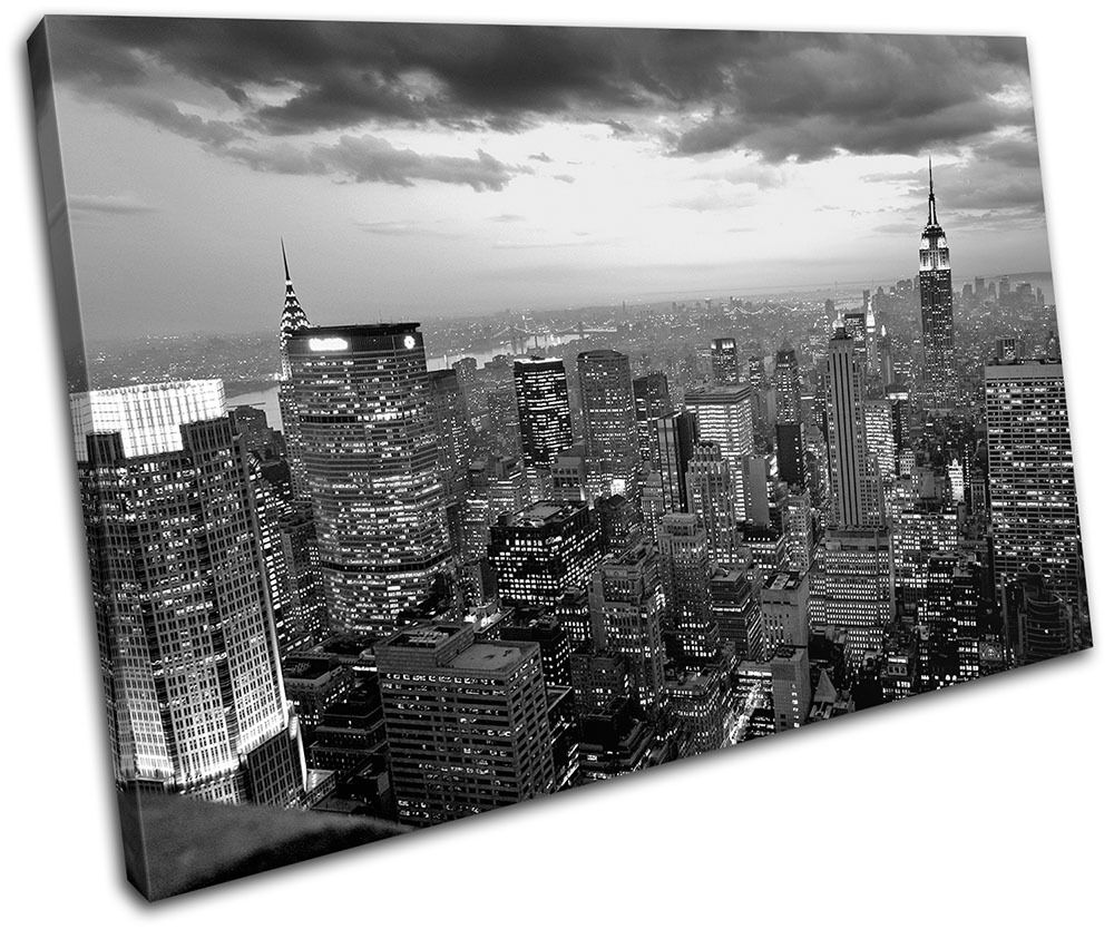 High Lights Of New York Skyline Canvas Wall Art: New York NYC Skyline City SINGLE CANVAS WALL ART Picture