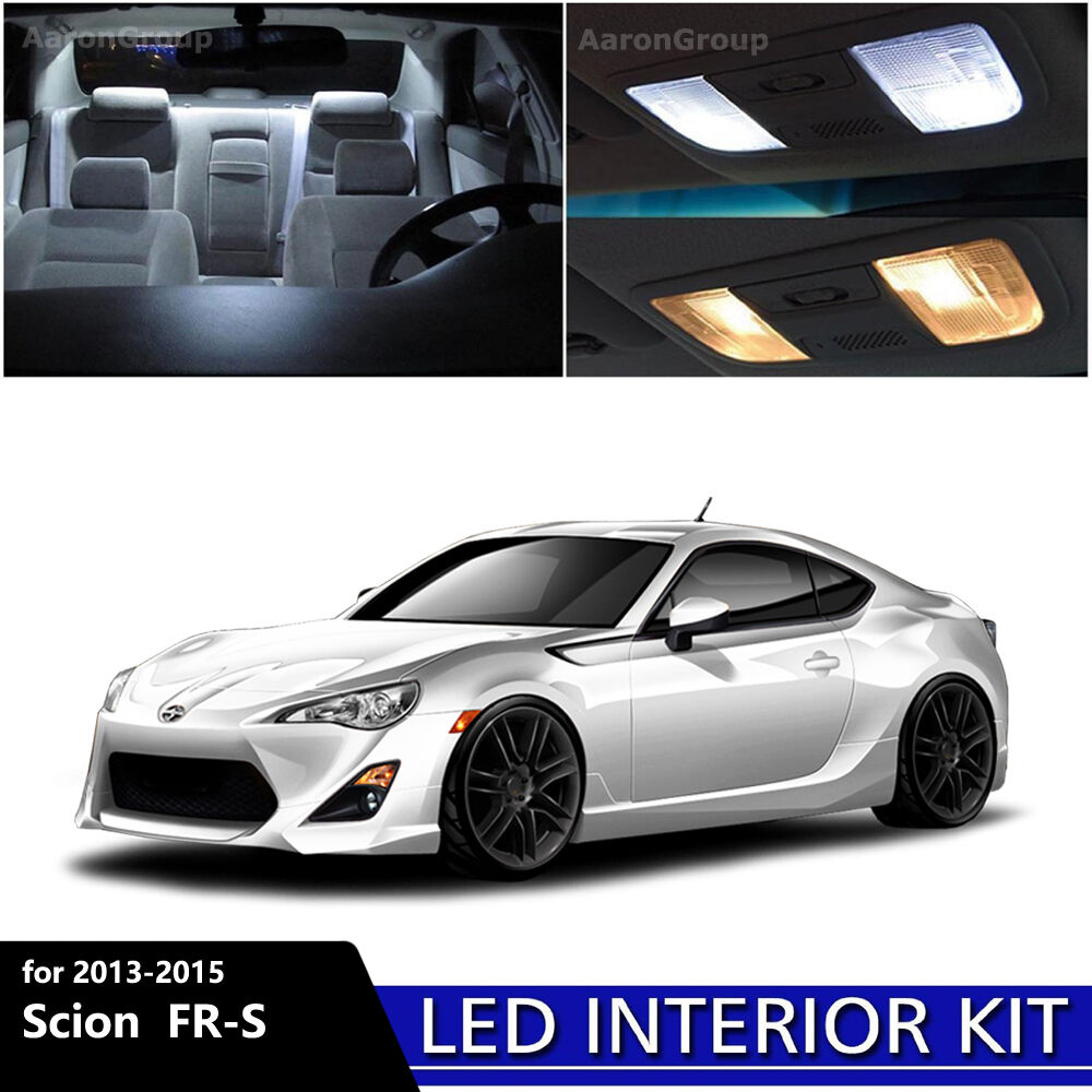 6pcs white interior led light package kit for 2013 2015 scion fr s frs ebay for Scion frs interior accessories