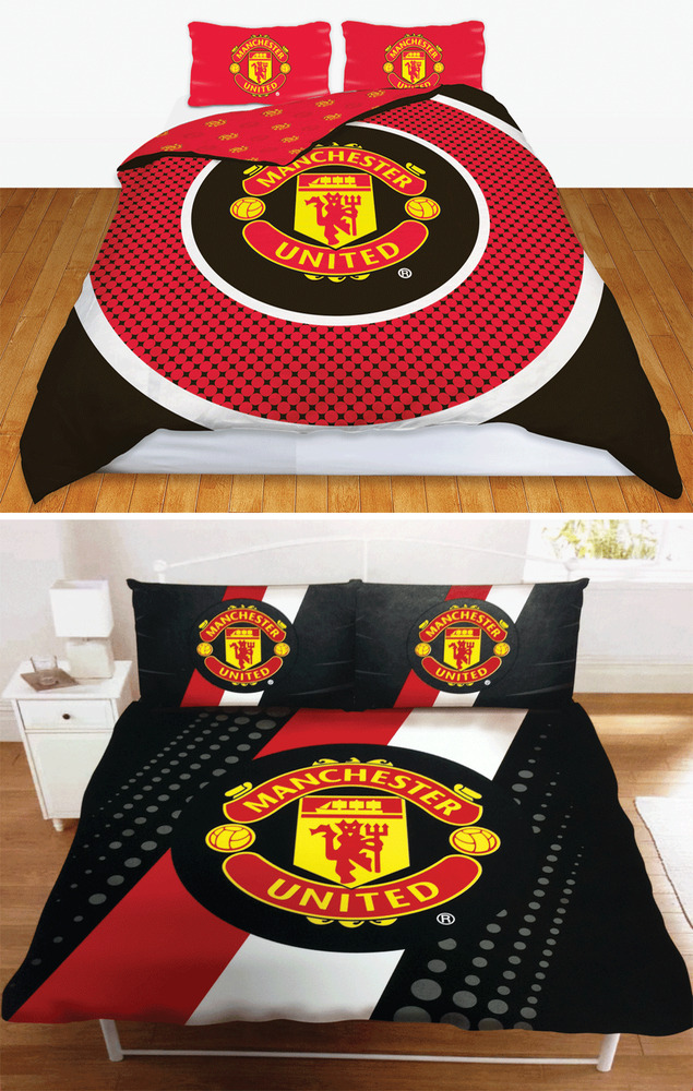Man utd fc manchester united football club double duvet for Man u bedroom ideas