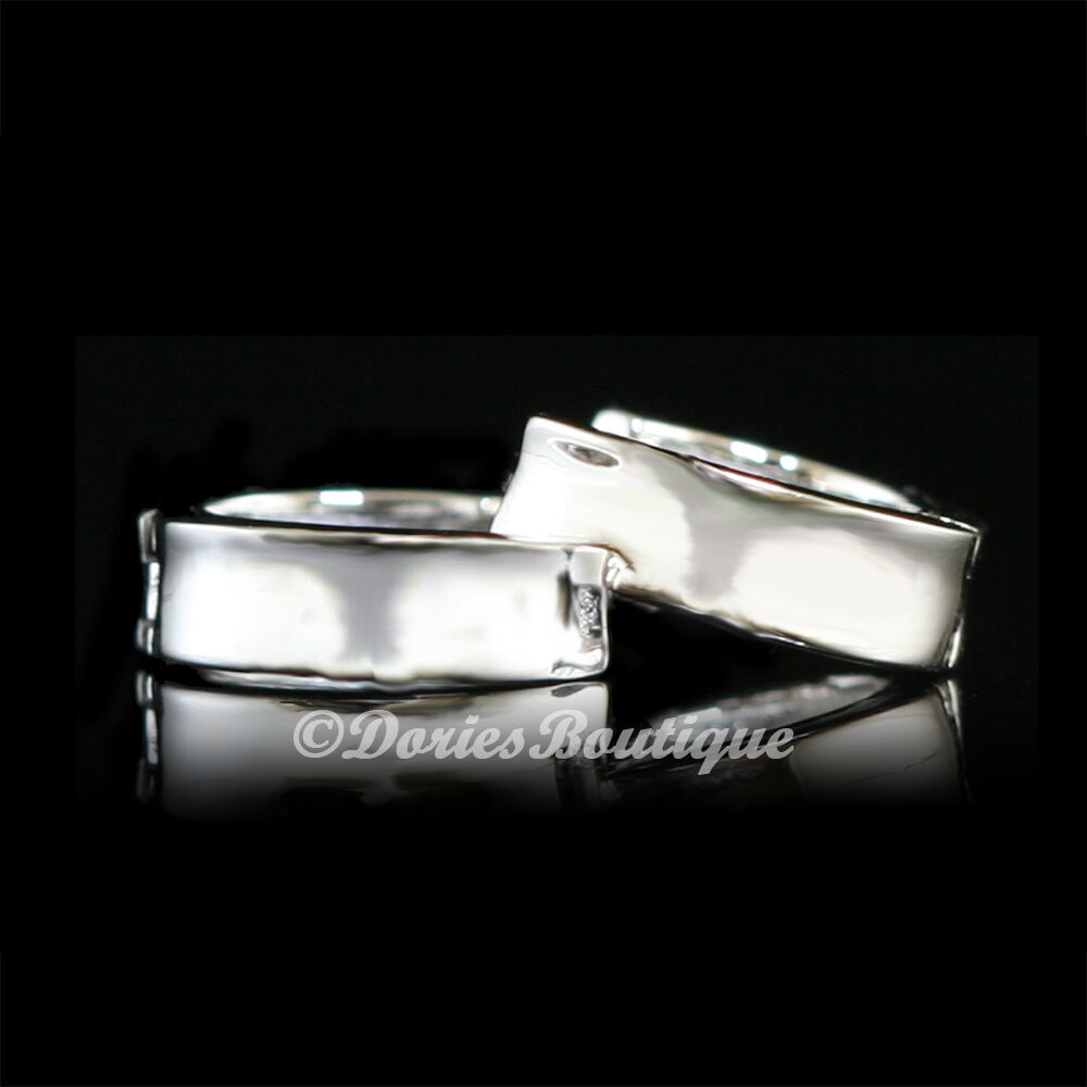 Simple clean 925 sterling silver huggie earring 925 fine for How do i clean sterling silver jewelry