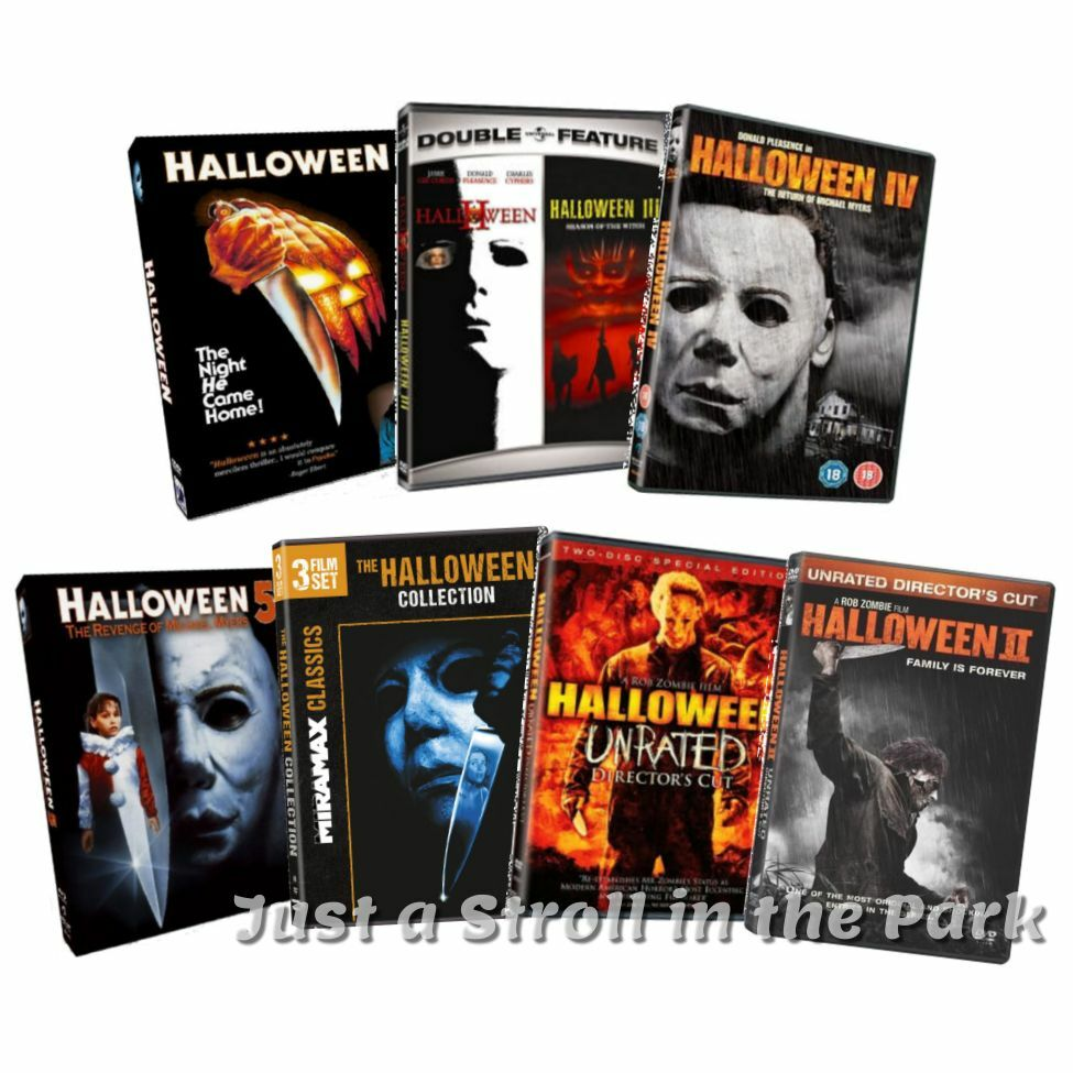 halloween: complete michael myers movies 1-8 + reboot movies 1-2 box