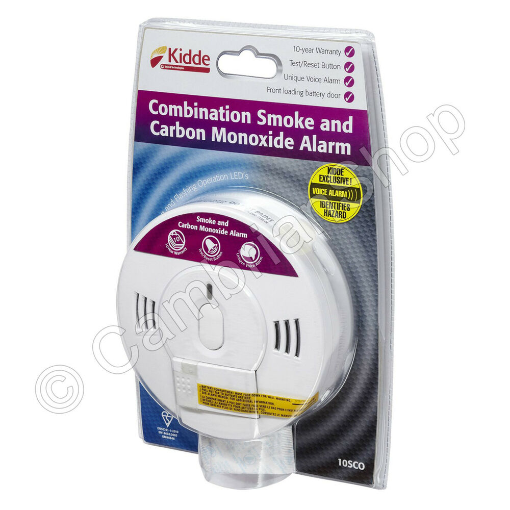 Kidde Combination Smoke Carbon Monoxide Alarm Voice 10sco