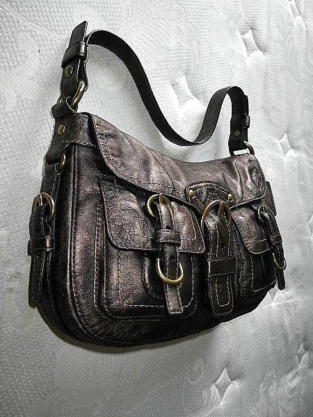 NEW COACH METALLIC BRONZE/COPPER LEATHER LEGACY FLAP HOBO ...