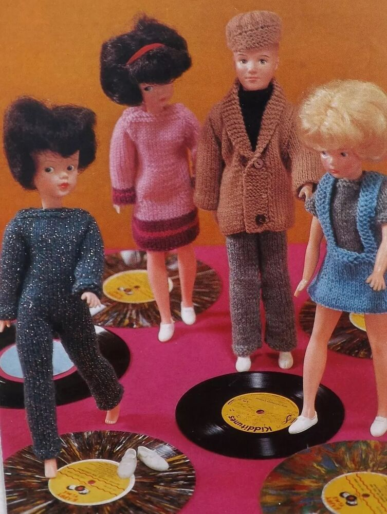 Vintage Knitting Patterns Dolls Clothes : Vintage Knitting Pattern Barbie/Sindy Type Doll Clothes ...