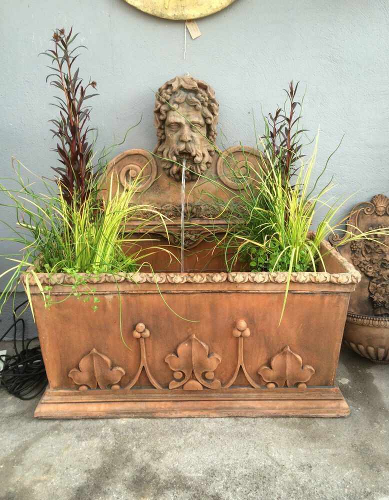 Terracotta english stone wall fountain gothic pool water - Watch over the garden wall online free ...