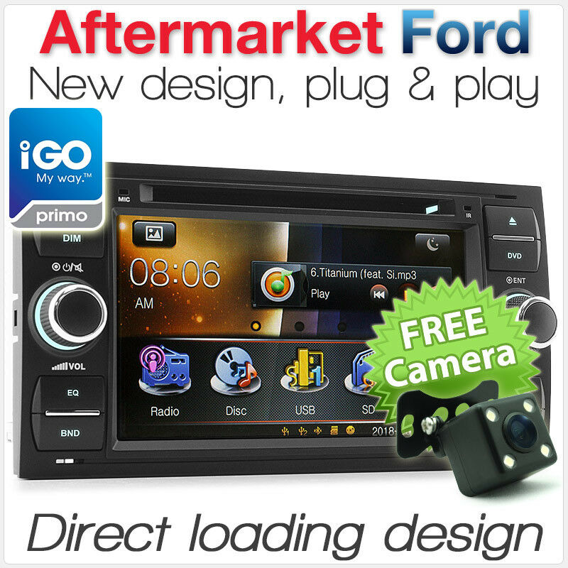 ford fiesta focus transit car dvd player gps stereo head unit radio sat nav navi ebay. Black Bedroom Furniture Sets. Home Design Ideas