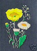20 Buttercup & Daisy Brtish Wild Flowers Enamel Inks Craft Decals Transfers -Med
