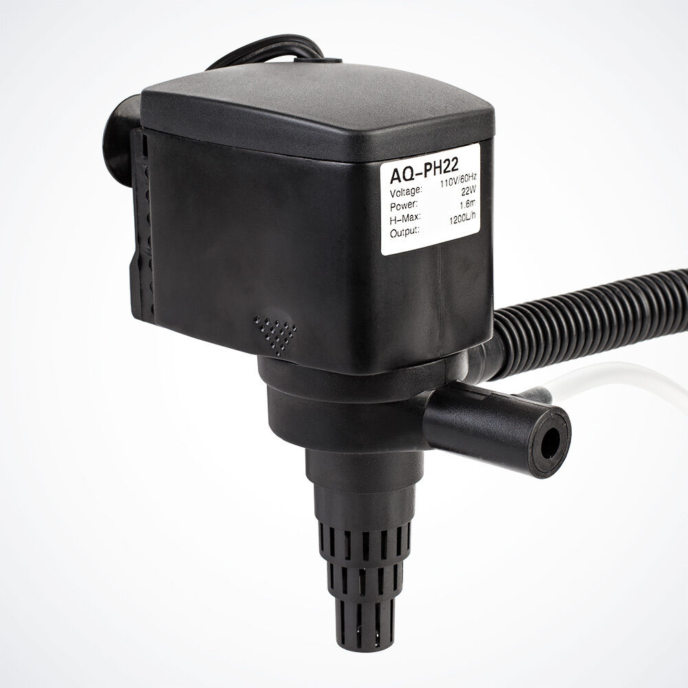 320 gph submersible aquarium water pump w filter pond for Submersible pond pump and filter