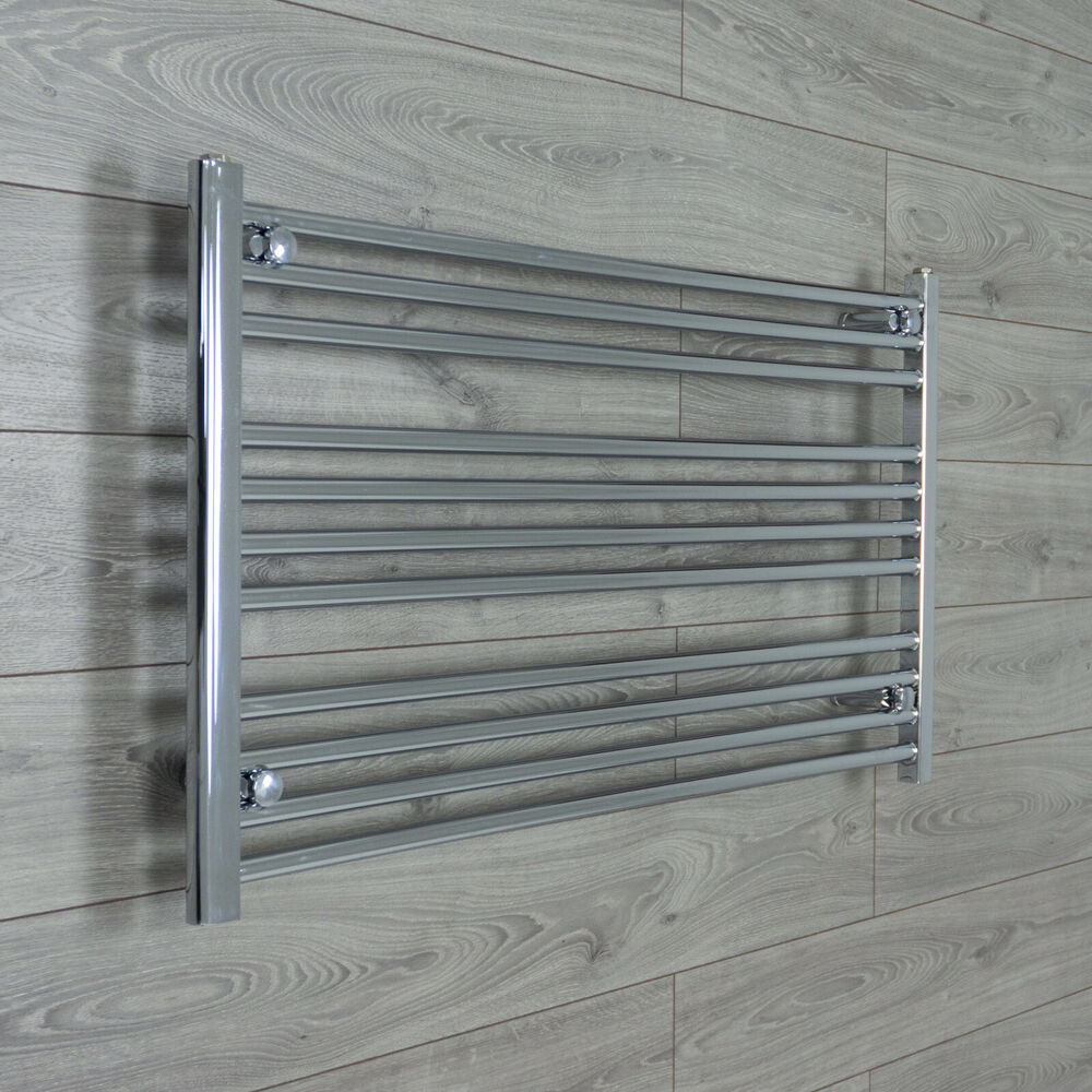 600mm Wide 800mm High Straight Chrome Heated Towel Rail: 1300mm Wide / 600mm High Heated Towel Rail Radiator Chrome