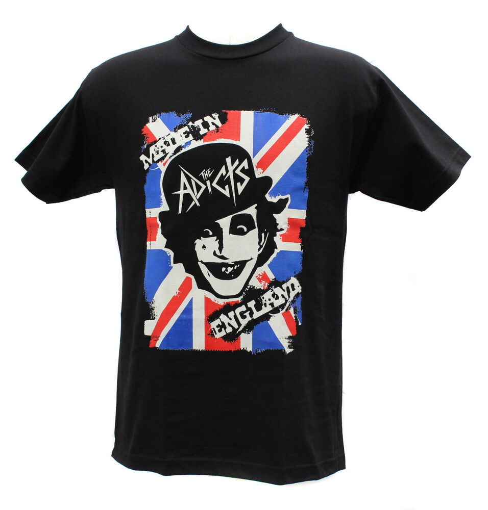 the adicts punk band embroidered graphic t shirts ebay. Black Bedroom Furniture Sets. Home Design Ideas