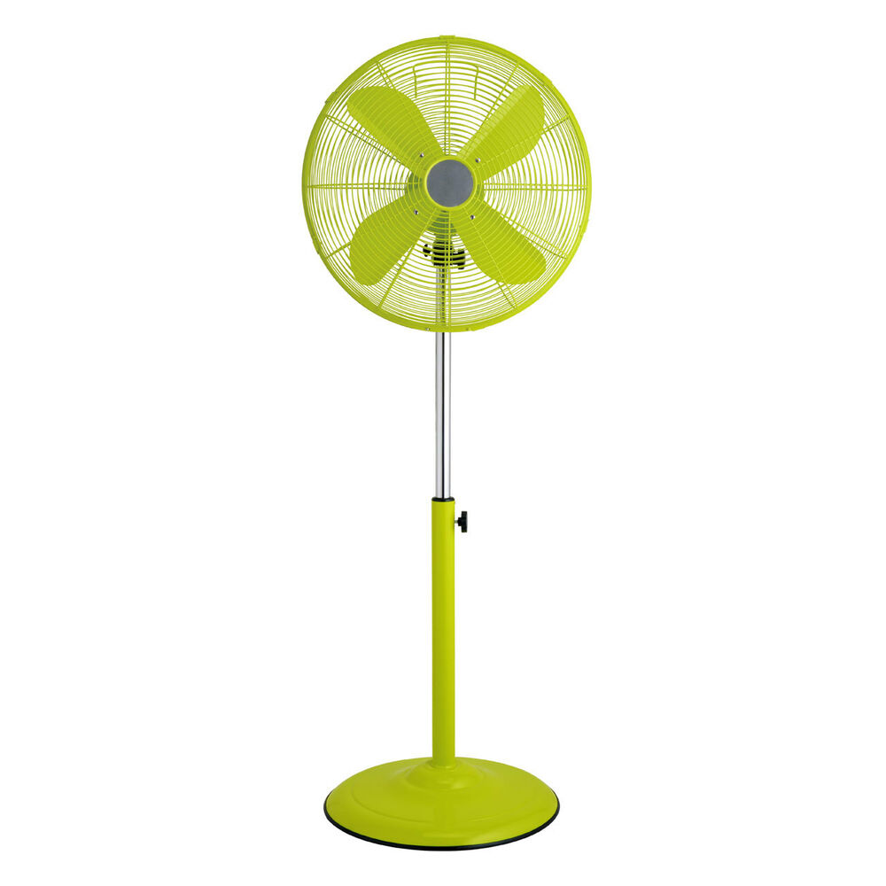 Pedestal Floor Fans : Pedestal floor fan green metal retro floorstanding
