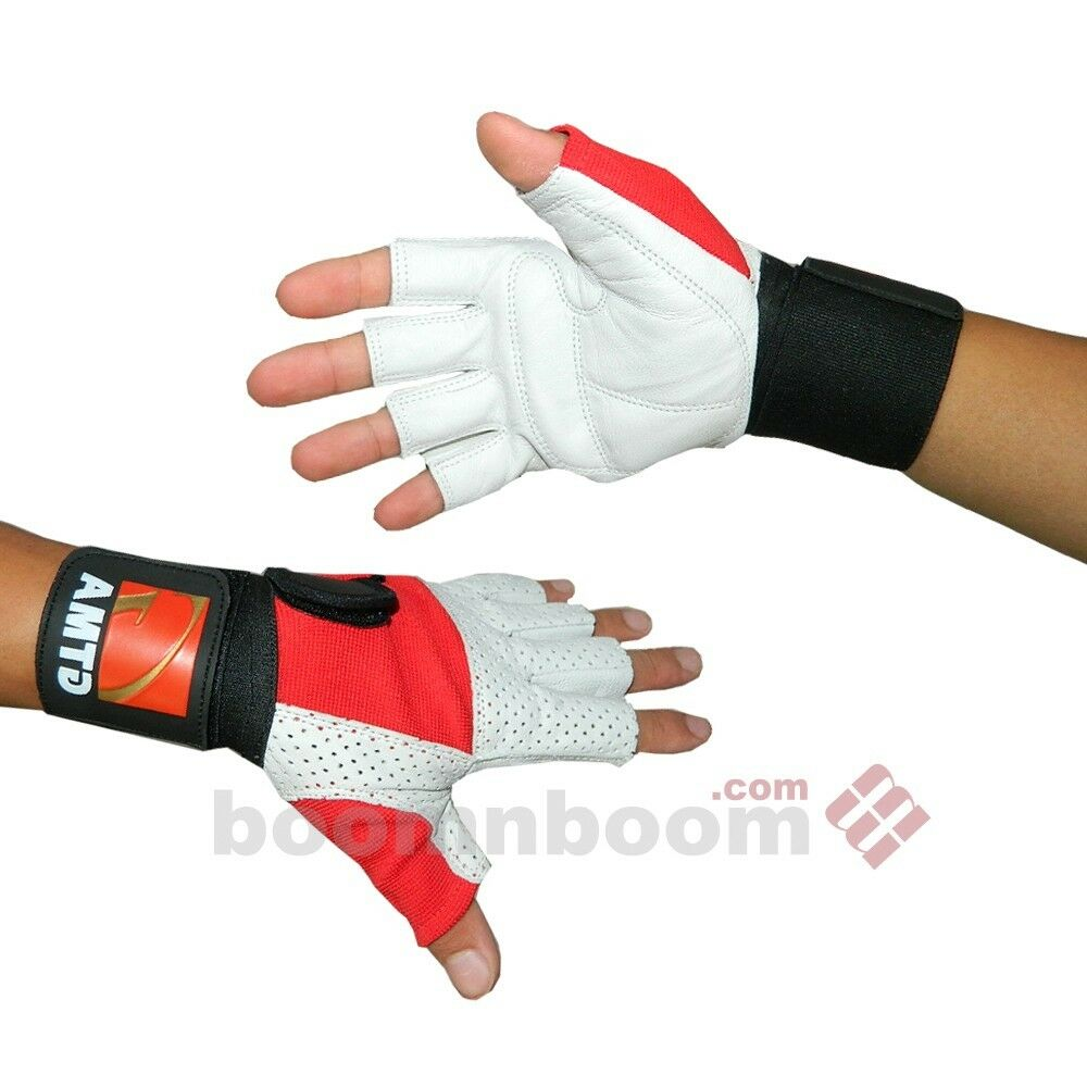 Weight Lifting Gloves Leather Half Finger Body Building