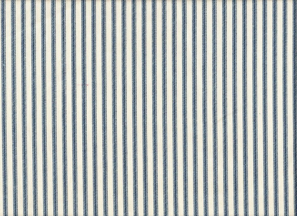 French Country Ticking Stripe Nautical Blue Twin Duvet