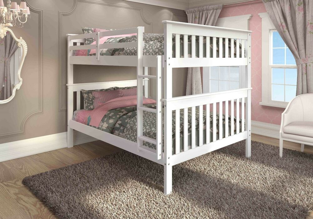 Full Over Full Mission Bunk Bed White Ebay