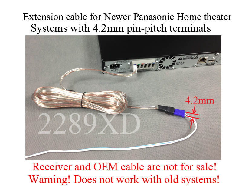 12ft Speaker Extension Cable Wire Cord 4 Panasonic Home