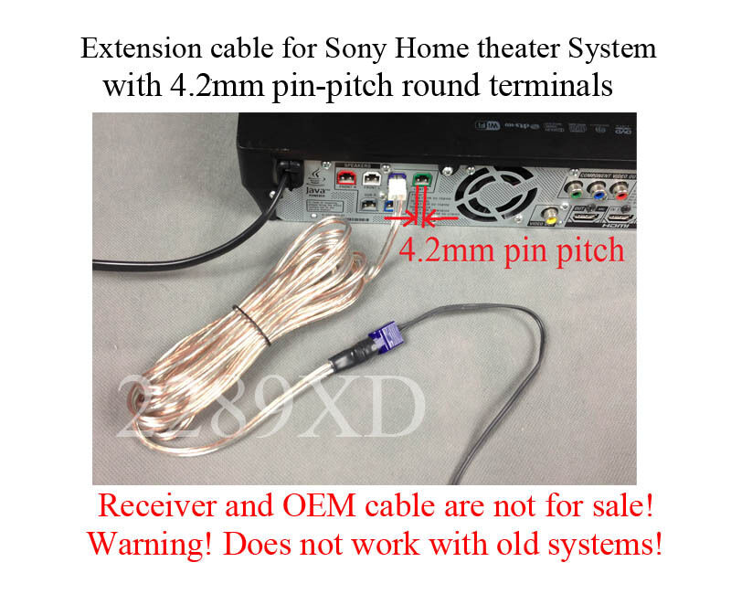 12ft speaker extension cable wire cord made for select sony home rh ebay com Orb Home Theater Wiring Diagram Wiring a Home Theater Room