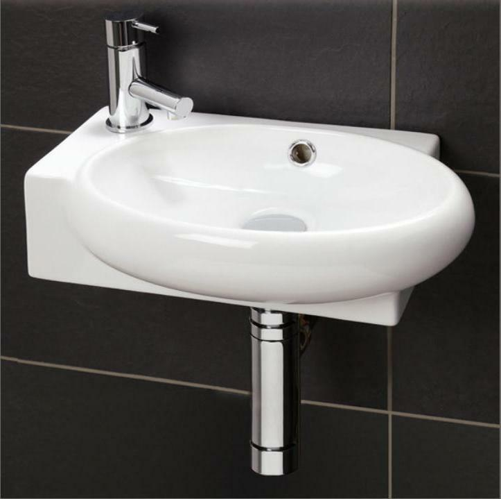 Small compact cloakroom basin bathroom sink round square - Small corner bathroom sinks ...