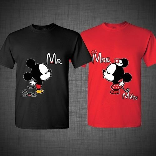 Mickey and minnie disney soul mate couple matching funny for Best couple t shirt design