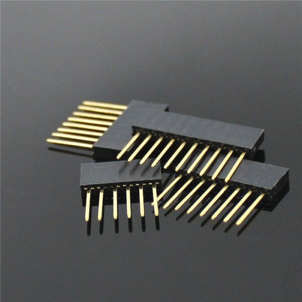 10pcs 2.54mm 10pin Stackable Female Tall Pin Header Socket Connector for Arduino