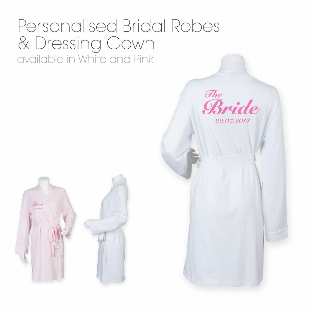 Personalised Wedding Robe & Dressing Gown   Perfect for Bride and ...