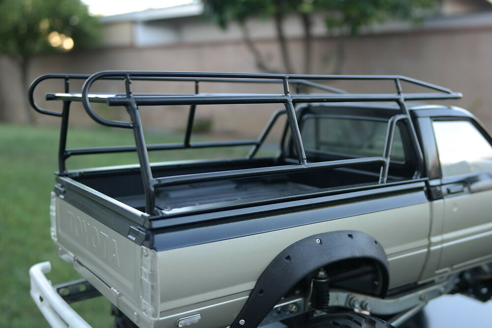 tamiya rc 1 10 toyota hilux high lift 4x4 pick up custom made metal roof rack a ebay. Black Bedroom Furniture Sets. Home Design Ideas