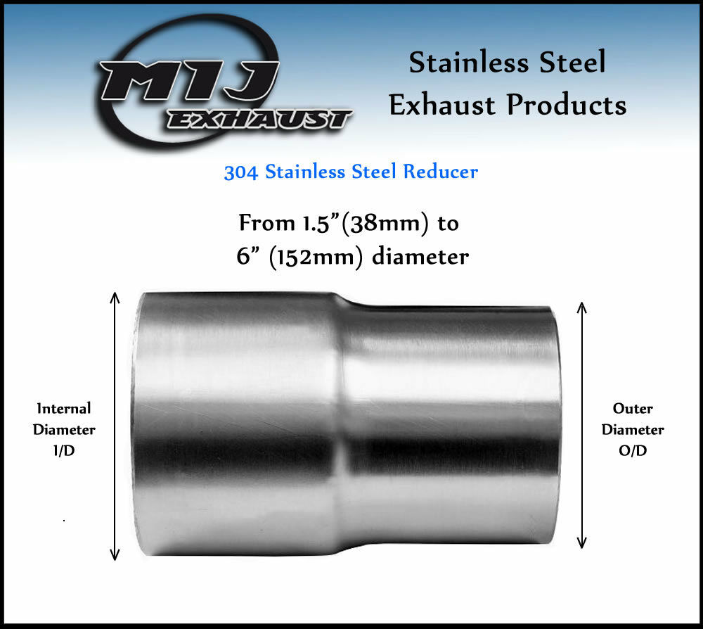 All Size Exhaust Reducer Sleeve Swaged Pipe Adapter Flared